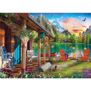Evening On The Lake 1000 Piece Jigsaw Puzzle