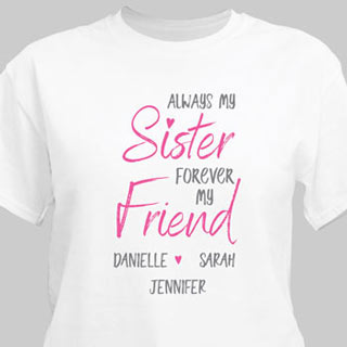 Personalized Always My Sister T-Shirt