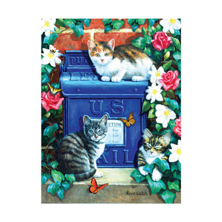 Mailbox Kittens 300 Large Piece Jigsaw Puzzle