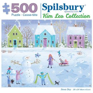 Snow Day 500 Piece Jigsaw Puzzle