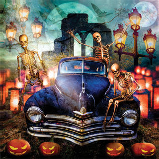 The Old Plymouth On Halloween 1000 Piece Jigsaw Puzzle