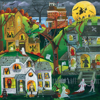 Dark, Eerie And Full Of Treats 500 Piece Jigsaw Puzzle