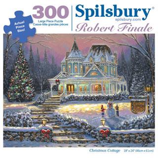 Christmas Cottage 300 Large Piece Jigsaw Puzzle