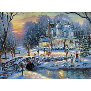 A White Christmas 300 Large Piece Jigsaw Puzzle