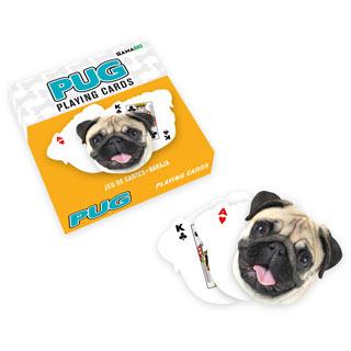 Pug Shaped Playing Card