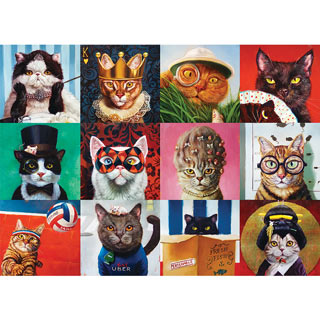 Funny Cats 1000 Piece Jigsaw Puzzle