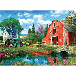 The Red Barn 1000 Piece Jigsaw Puzzle
