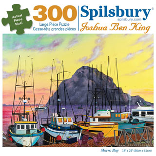 Morro Bay 300 Large Piece Jigsaw Puzzle