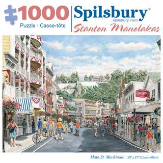Main St. Mackinaw 1000 Piece Jigsaw Puzzle