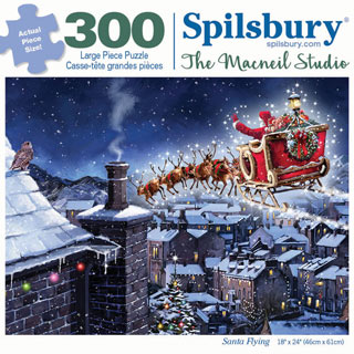 Santa Flying 300 Large Piece Jigsaw Puzzle