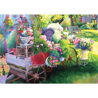 Flower Cart 300 Large Piece Jigsaw Puzzle