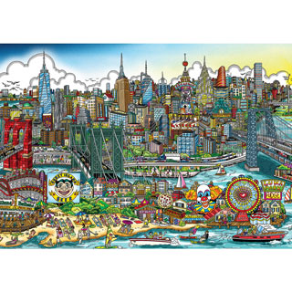 A Day at the Beach 1000 Piece Jigsaw Puzzle