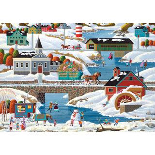 New England Winter 1000 Piece Jigsaw Puzzle