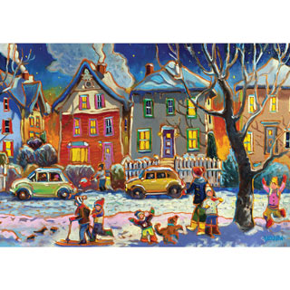 Winter Play 1000 Piece Jigsaw Puzzle