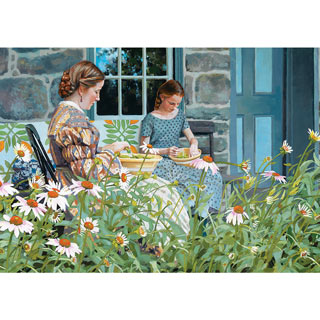 Snapping Beans 1000 Piece Nostalgia Jigsaw Puzzle