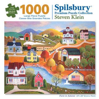 Farm In Autumn 1000 Piece Jigsaw Puzzle
