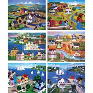 Set of 6: Steven Klein 1000 Piece Jigsaw Puzzles
