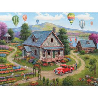 Summer Cottages 300 Large Piece Jigsaw Puzzle