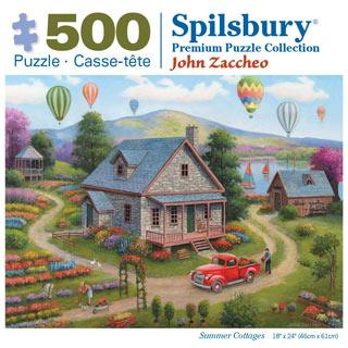 Summer Cottages 500 Piece Jigsaw Puzzle