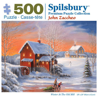 Winter At the Old Mill 500 Piece Jigsaw Puzzle