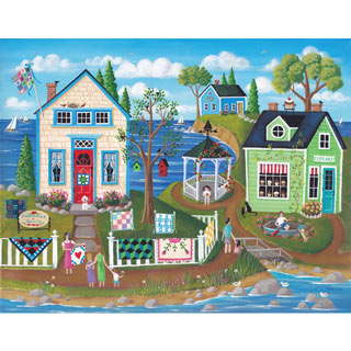 Cupcakes and Quilts 500 Piece Jigsaw Puzzle
