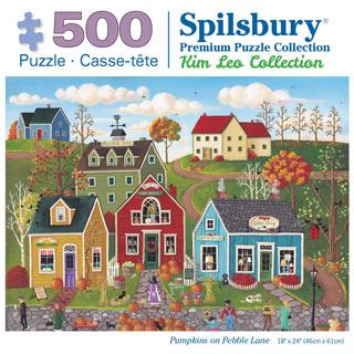 Pumpkins on Pebble Lane 500 Piece Jigsaw Puzzle