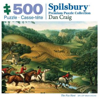 The Fox Hunt 500 Piece Jigsaw Puzzle