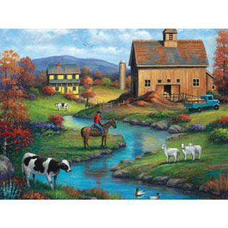 Brown Barn Farm 1000 Piece Jigsaw Puzzle