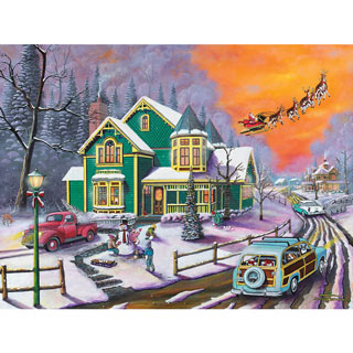 Santa Is Coming To Town 500 Piece Jigsaw Puzzle