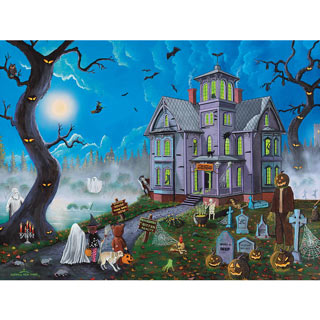 Spooky Manor 500 Piece Jigsaw Puzzle
