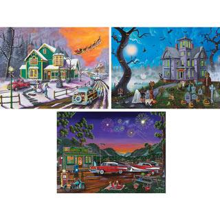 Set of 3: Joshua Ben King 500 Piece Jigsaw Puzzles