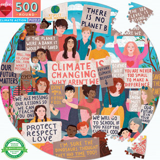 Climate Action 500 Piece Round Jigsaw Puzzle