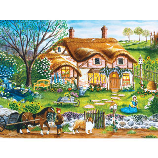 A Cottage Garden 550 Piece Jigsaw Puzzle