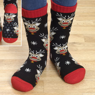 Reindeer Slipper Socks