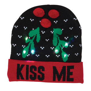 Light-Up Holiday Hat - Kiss Me