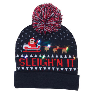 Light-Up Holiday Hat - Sleigh'n It