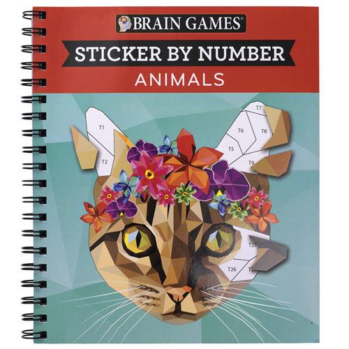 Sticker by Number Book- Animals