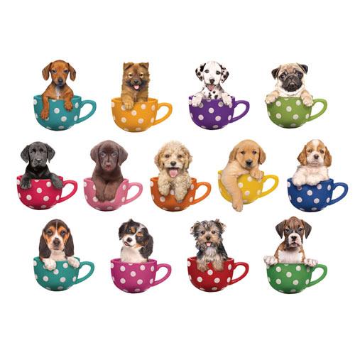 Mini Pups 500 Piece Shaped Jigsaws Set