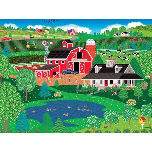 Apple Pond Spring 500 Piece Jigsaw Puzzle