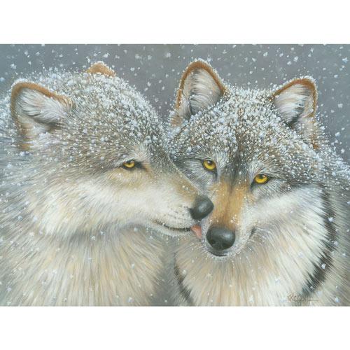 Wolf Kiss 500 Piece Jigsaw Puzzle
