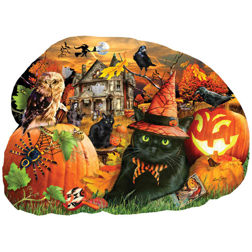 Strolling in the Moonlight 1000 Piece Shaped Jigsaw Puzzle