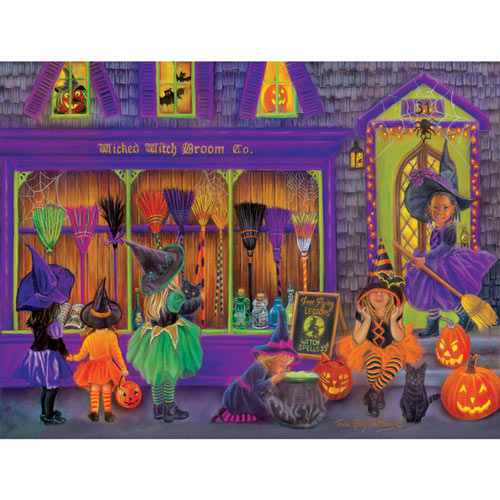 Witch Broom Shop 300 Large Piece Jigsaw Puzzle