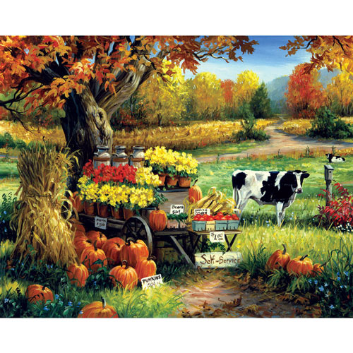 Self Serve with Cow 1000 Piece Jigsaw Puzzle