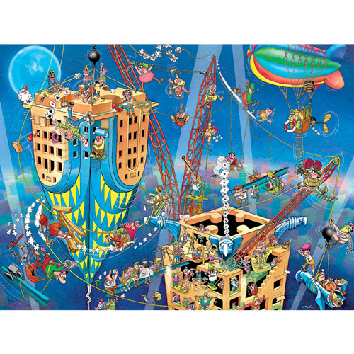 Men At Work 300 Large Piece Jigsaw Puzzle