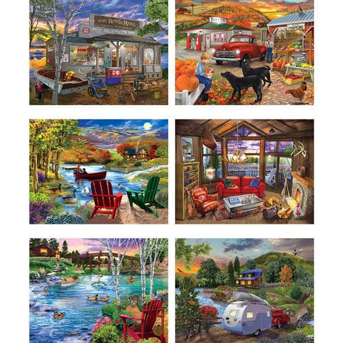 Set of 6: Chris Bigelow 300 Large Piece Jigsaw Puzzles