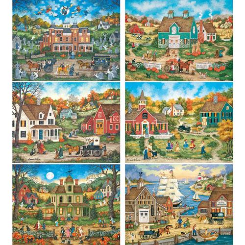 Set of 6: Bonnie White 300 Large Piece Jigsaw Puzzles