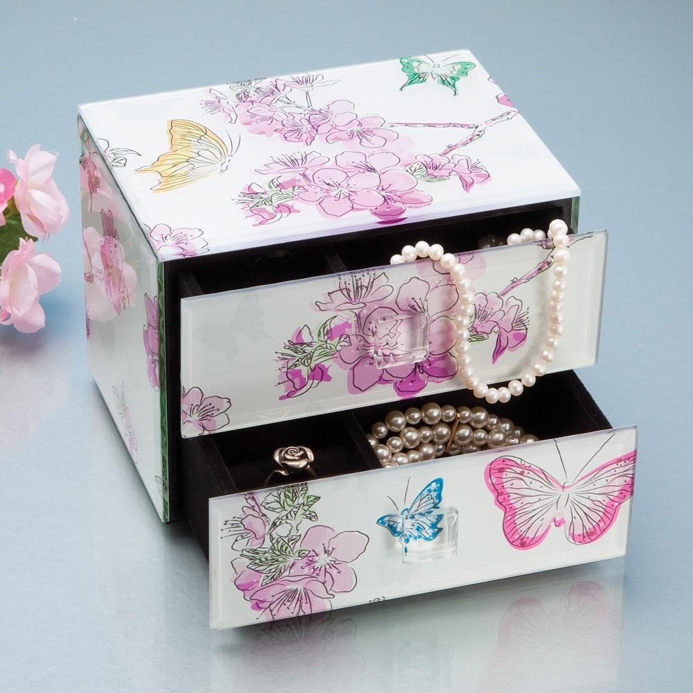 Elegant Floral Jewelry Box