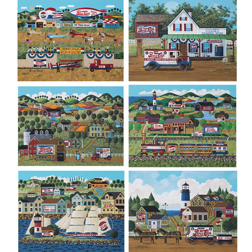 Set of 6: Pepsi® 550 Piece Jigsaw Puzzles