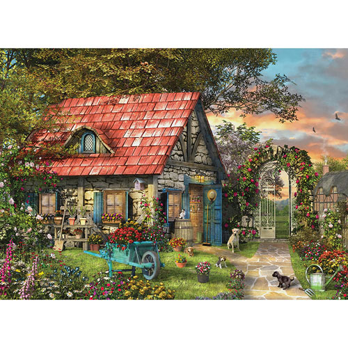 White Swan Cottage 300 Large Piece Jigsaw Puzzle