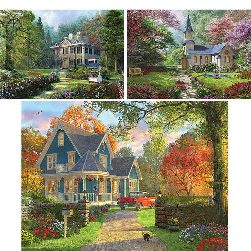 Set of 3: Dominic Davison 1000 Piece Jigsaw Puzzles